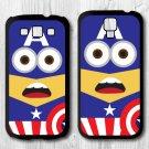 Minion Captain America Phone cover for Samsung Galaxy S3,S4