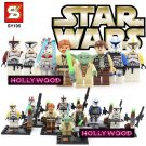 Star Wars 8pc Mini Figures Building Blocks Minifigures Block Build Set 1