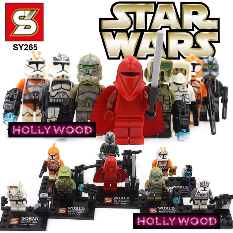 Star Wars 8pc Storm Troopers Red Clone Mini Figures Building Blocks Minifigures Block Build Set 2