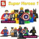 Marvel Superheros 8pc Mini Figures Building Blocks Minifigures Block Build Set 1