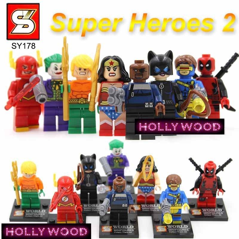 Marvel Superheros 8pc Mini Figures Building Blocks Minifigures Block Build Set 2