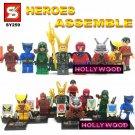 Superhero DC MARVEL 8pc Mini Figures Building Blocks Minifigures Block Build Set 2
