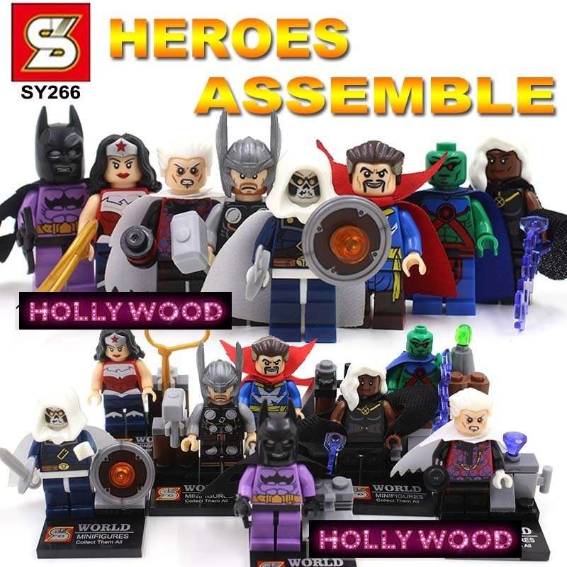 Superhero DC MARVEL 8pc Mini Figures Building Blocks Minifigures Block Build Set 3