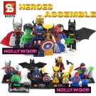 Superhero DC MARVEL 8pc Mini Figures Building Blocks Minifigures Block Build Set 4