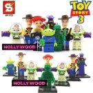 Toy Story 3 8pc Mini Figures Building Blocks Minifigures Block Build Set