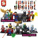 Justice League SuperHero 8pc Mini Figures Building Blocks Minifigures Block Build Set