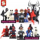 Spiderman Marvel 8pc Mini Figures Building Blocks Minifigures Set 1