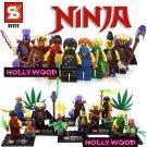 Ninja 8pc Mini Figures Building Blocks Minifigures Block Build Set