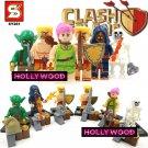 Clash of Clans 8pc Mini Figures Building Blocks Minifigures Block Build Set