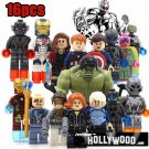 Avengers Marvel 16pc Mini Figures Building Blocks Minifigures Set Ironman Hulk Captain America