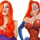 Jessica Rabbit Orange Red Wig Adult Halloween Costume Accessory New STILL AVAILABLE