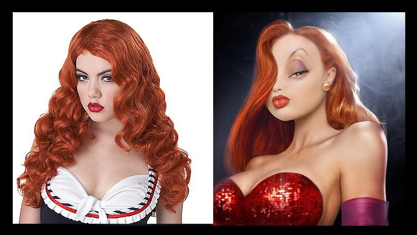 Jessica Rabbit Red Wig With Waves Roger Rabbit Adult Halloween Costume Accessory New STILL AVAILABLE