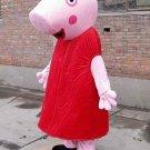 Red Peppa Pig Mascot Character Adult Costume