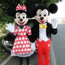 Mickey & Minnie Mouse Character Mascot Costumes Pair Adult