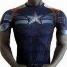 Captain America Marvel Compressed Fit SuperHero T Shirt