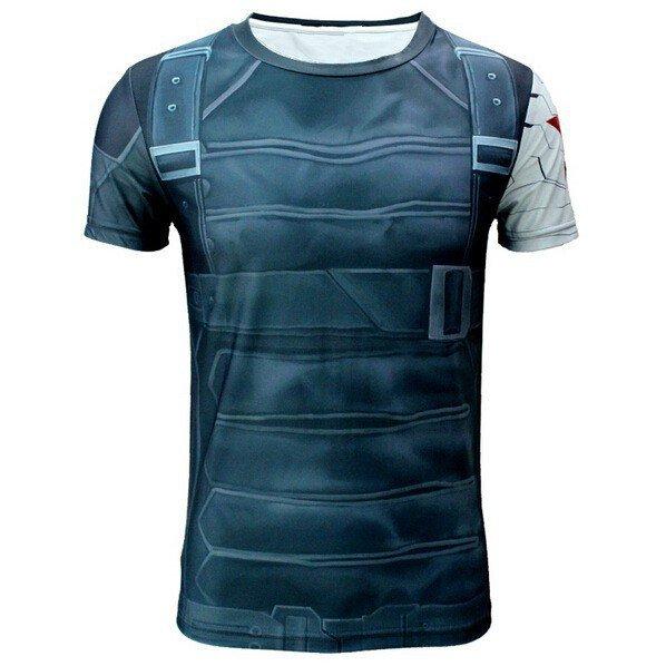 New Captain America Marvel Tight Fit SuperHero Shirt- SALE