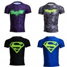 Superman Batman Metallic Compressed Fit SuperHero T Shirt 4 Selections Sale