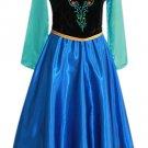 Anna Frozen Adult Costume Dress Female Custom