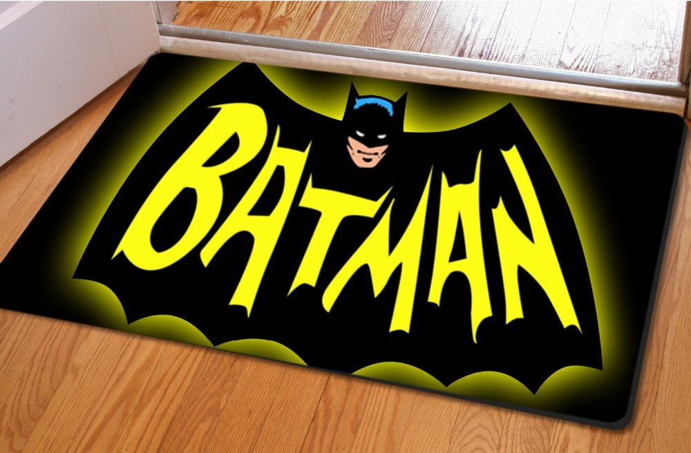 . Batman Accent Bedroom Carpet  Bath or Door Mat  NEW