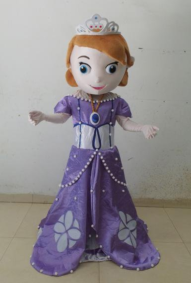 Princess Sophia Mascot Costume Adult Character Disney