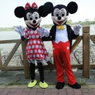 Mickey & Minnie Mouse Character Adult Mascot Costumes Pair