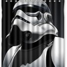 Star Wars Storm Trooper Full face White Hollywood Design Shower Curtain