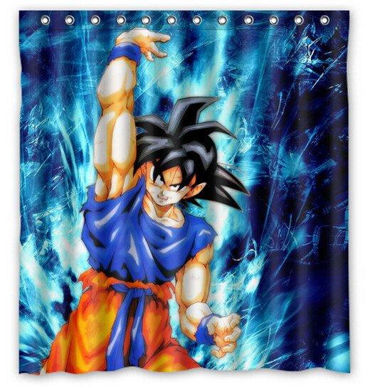 Dragon Ball Z Shower Curtain Anime Cartoon Hollywood Design