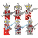 Ultraman Comic 8pc Mini Figures Building Blocks Minifigures Block set