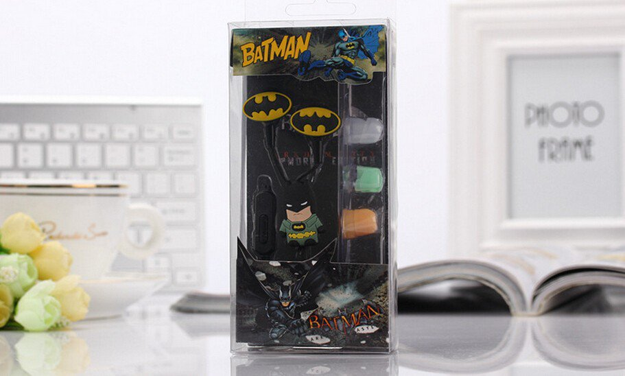Batman Earphones Set Marvel DC Dark Knight Superhero 3.5MM $2 Ship