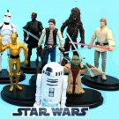 Star Wars 8pc Figure Set Yoda 3CPO R2D2 Chubacca BLOWOUT PRICE SHIPS FREE LIMITED TIME