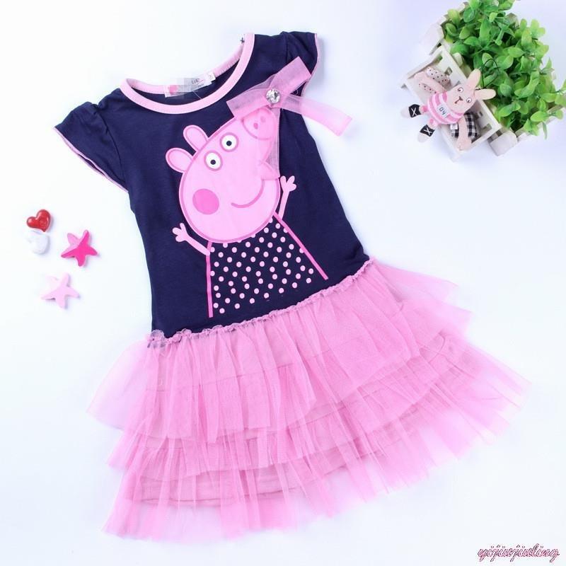 peppa pig tutu dress kids girls short sleeve