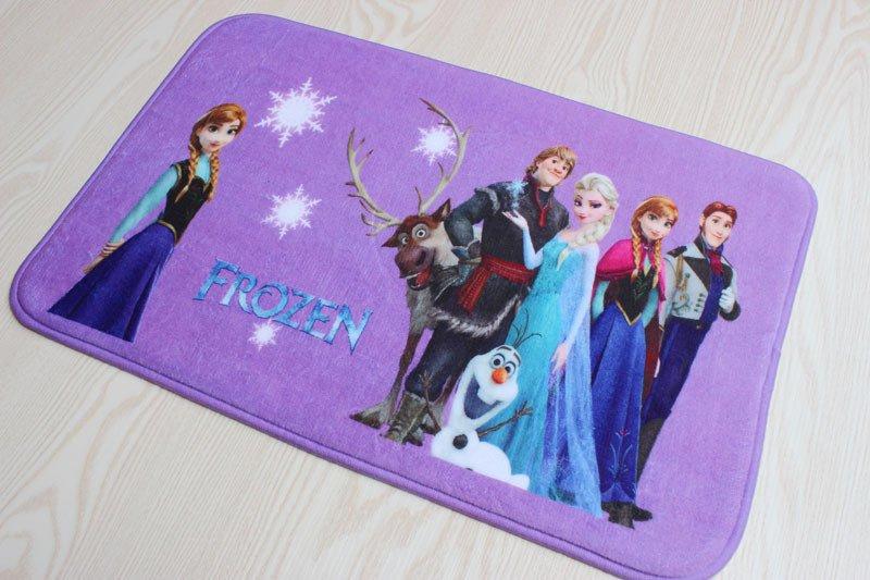 Frozen Group Anna ElsaSnow Princess Bath Mat Accent Rug for Bath Bedroom Living Room