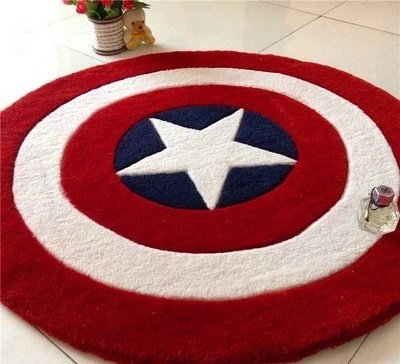 Captain America Shield Accent Rug Living or Bedroom XL- $5 ship