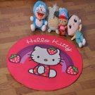 Hello Kitty Accent Bedroom Round Carpet, Bath or Door Mat -NEW