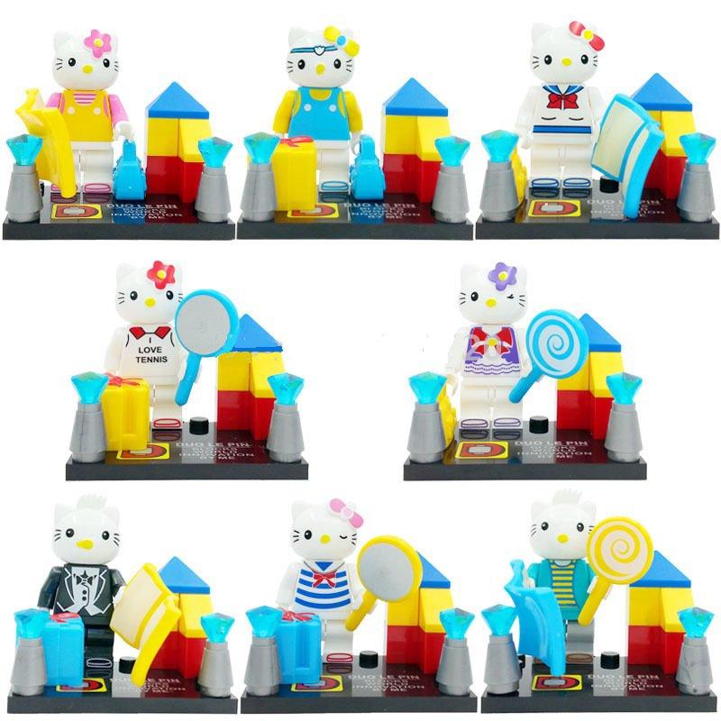 Hello Kitty 8pc  Mini Figures Building Block New