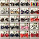 Fun Fashion Butterfly Bowties Multi Color Selection - 20 Designs Colors