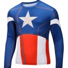 Captain America Compressed Superhero Long Sleeve Shirt Marvel Small to 6XL SALE $15
