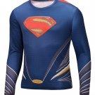 Superman Compressed Superhero Long Sleeve Shirt Marvel Small to 6XL SALE $15