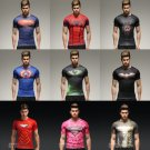 Marvel Superhero Tight Fit Sport Shirt 9 Designs Batman Ironman Superman Thor Wolverine SALE