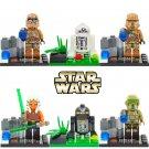 Star Wars 6pc Mini Figures Building Blocks Minifigures Block R2D2 trooper New Edition LELE
