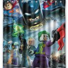 "Superhero Lego Figures Shower Curtain Custom Hollywood Designs 66""x72"""