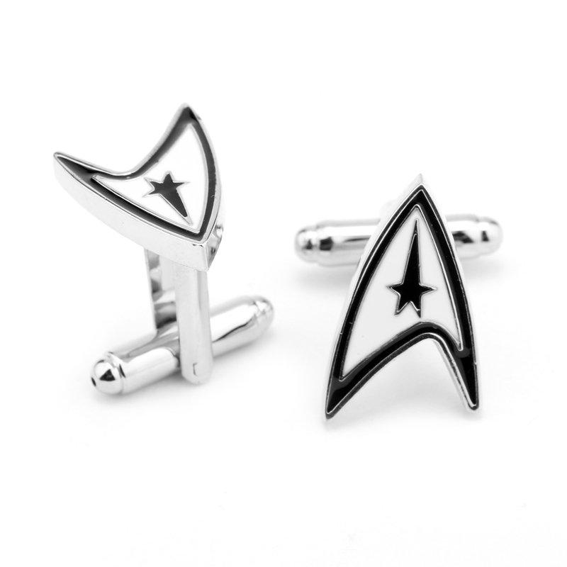 Star Trek Enamel Cufflinks Movie Cuff Links Pair / Set NEW ARRIVAL