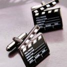 Hollywood Clapboard Enamel Cufflinks Pair / Set