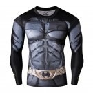 Batman Armoured Compressed Superhero Long Sleeve Shirt Marvel DC M TO XXL NEW
