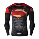 Superman Armoured Compressed Superhero Long Sleeve Shirt Marvel DC M TO XXL NEW