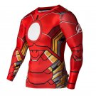 Iron Man Avengers Armored Compressed Superhero Long Sleeve Shirt Marvel DC M TO XXL NEW