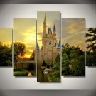 Cinderella's Castle Magical Disney Princess 5pc Wall Decor Framed Oil Painting