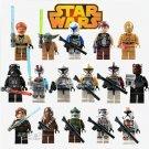 Star Wars 16 PIECES  Mini Figures Building Blocks Minifigures Block Build