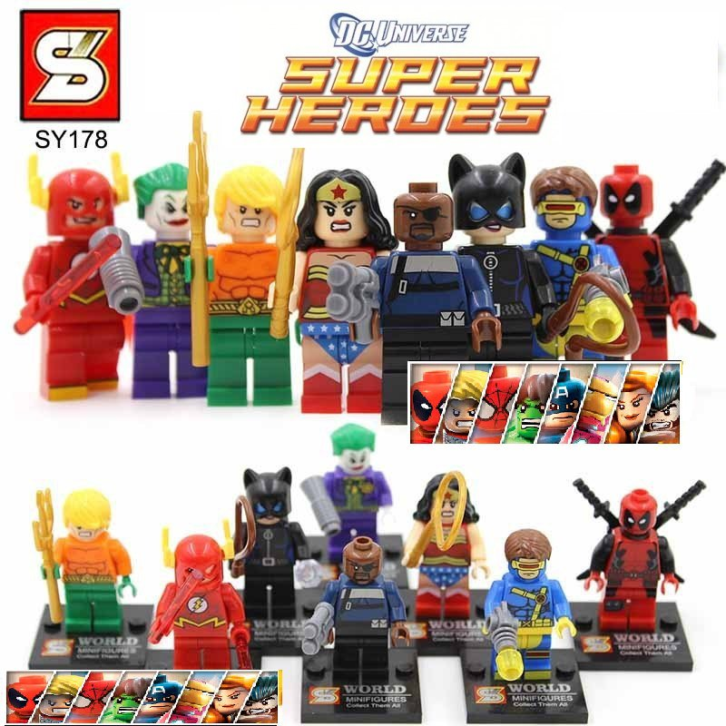 Marvel Superheros 8pc Mini Figures Building Blocks Minifigures Block Build Set 2