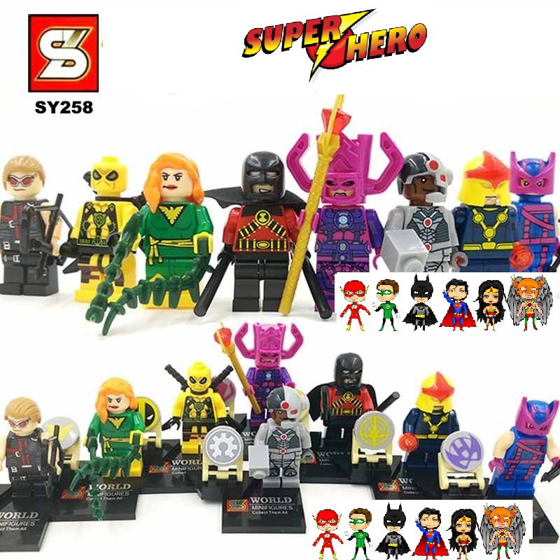 Superhero DC MARVEL 8pc Mini Figures Building Blocks Minifigures Block Build Set 1